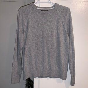 A gray banana republic 100% cotton slub sweater